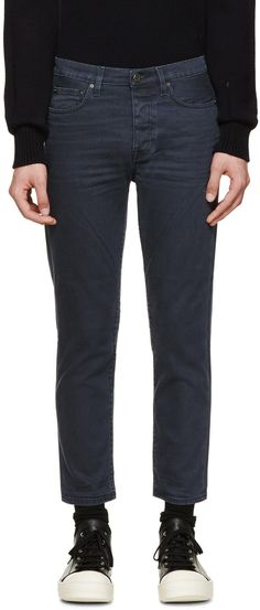 Acne Studios Blue Black Town Moon Jeans
