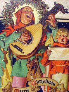 "J C Leyendecker - ""Christmas Minstrels"" (1929)"