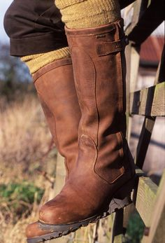 Buckden shooting boots: love the cropped trousers and mustard socks with this.