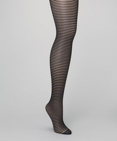 Take a look at this Black Sheer Stripe Tights by Cole Haan on #zulily today!