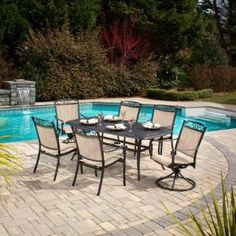 Hampton Bay Santa Maria 7-Piece Patio Dining Set-S7-ADQ10800 at The Home Depot   #DriscollsSweepstakes