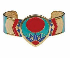 Chevron Medalion Bracelet Collectible Jewelry Accessory Bangle Brace Summit. $20.99