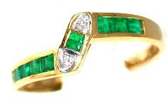 Gemstone Eternity Diamond 18K Yellow Gold Emerald Ring [R0023] BKGjewelry http://www.amazon.com/dp/B00CG6EMSW/ref=cm_sw_r_pi_dp_dn-Iwb15A0M4C