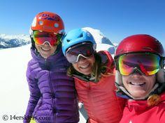 Backcountry skiing Mount Sopris.