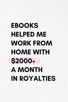 Learn how you can make a feasible income at home by working online with ebooks.   #sidehustleideas #sidehustlemoney #howto #passiveincoe #onlineincome #onlinemoney #onlinejobs #extramoney #makemoney #workfromhome