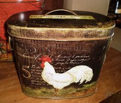 Rooster tin
