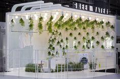 Green Waters exhibit by Patrick Nadeau for LG Hausys, Paris exhibit design eco