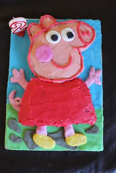 Just For Daisy: How to make a Peppa Pig Cake - easy to make Looks great!