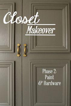 Closet Makeover Phase 2: Paint & Hardware | HowFantasticBlog.com