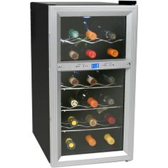 This Koldfront 18 Bottle Dual Zone Thermoelectric Wine Cooler is on my list to replace the noisier, compressor-driven wine cooler that we have now. $180