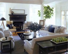 muted tones and big sofas