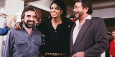 MJ, famous director Martin Scorsese and President of CBS Records Walter Yetnikoff on the set of the Bad Video, New York city November 1986