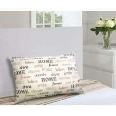 Harper Lane Inspire Throw Pillow (Ivory - - Rectangle) - Specialty (Polyester, Quotes & Sayings) Sofa Pillows, Outdoor Throw Pillows, Pattern Quotes, Pillow Arrangement, Home Decor Quotes, American Decor, Throw Pillow Sets, Shabby Chic Furniture, Decorative Pillows