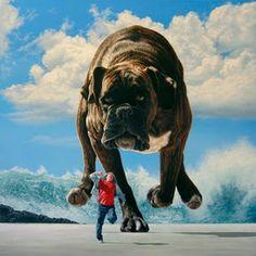 Boxer, giant dog, running
