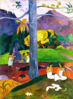 Paul Gauguin, Mata Mua (In Olden Times) on ArtStack #paul-gauguin #art