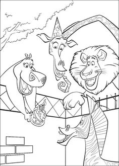 The Coloring-ForKids members who have chosen this Madagascar coloring page love also MADAGASCAR coloring pages20 printable Madagascar coloring pages
