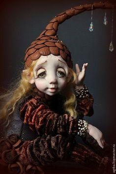 Interior doll / Коллекционные куклы ручной работы. Переждать дождь. Тимофеева Ольга. Интернет-магазин Ярмарка Мастеров. Кукла ручной работы