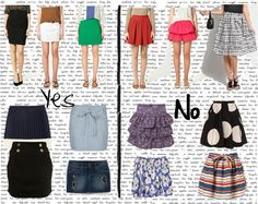 How to dress the Apple or Circle Body Shape, flattering, not flattering, big bust or small, comparisons for each!