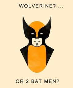 wolverine, or 2 bat men? @Albert Chavarria #fanart