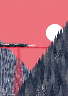 SQUET April 2014 issue by Ryo Takemasa, via Behance | reminds me of Grand Budapest Hotel