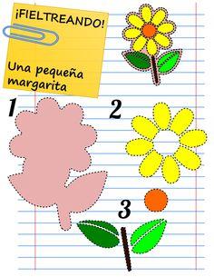 ¿Que buscas plantillas para hacer flores de fieltro? ¡Ya las has encontrado! En la web de los patrones y las plantillas: Mamá Eva
