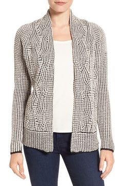 Free shipping and returns on NIC+ZOE Mixed Stitch Cardigan at Nordstrom.com. A swirling nubby knit outlined with contrast stitches brings a rich textural twist to an open-front cardigan styled with smooth-fitting raglan sleeves.