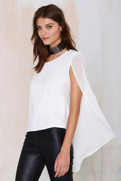 This was only, like, made for me....  Nasty Gal Monica Top - Ivory - Shirts + Blouses | Clothes | All | Tops