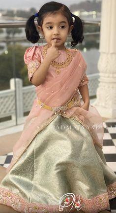 Baby Girl Dress Patterns, Baby Dress Design, Wedding Dress Patterns, Kids Indian Wear, Kids Ethnic Wear, Kids Frocks, Frocks For Girls, Half Saree Designs, Baby Boy Dress