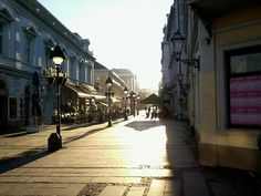 Early morning in the main street of Belgrade