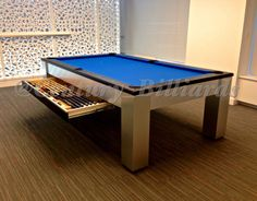 Modern pool table design for the Gotham in NYC.  We specialize in modern pool table designs, contact us at nygameroom@gmail.com