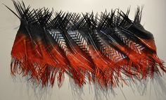 Maori New Zealand Weaving. Polynesian Designs, Maori Designs, Flax Weaving, Weaving Art, Red Black, Black Silver, Maori Tribe, International Craft, Maori People