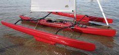 Sailing kayak / sea / trimaran LW 15.5 Warren Light Craft