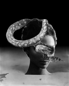 """Saatchi Art Artist J Swofford; surreal black and white photography, """"Serpent Speech"""" #art 
