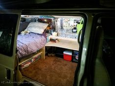 Chevy Astro Van Turned Into Student Dorm Room Camper for $200 - Step by step instructions