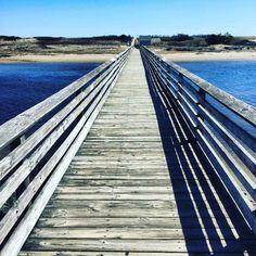 Crossing the footbridge to Ogunquit Bridge, Maine. Give me summer right now!!