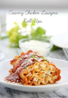 3 1/2 out of 5 stars: Creamy Chicken Lasagna Roll-Ups