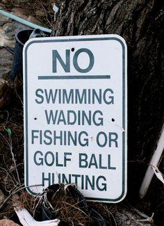 Vintage NO Swimming Wading Fishing or Golf Ball  - etsy shop dagutzyone