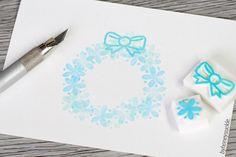 flower stamp set christmas wreath stamp flower by byhoneysuckle