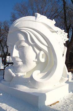 Snow sculpture on Sun Island in Harbin - China.org.cn