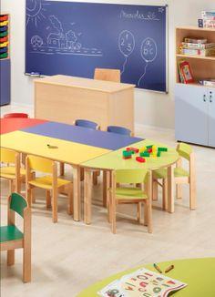 Mobiliario escolar para guardería.
