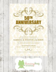 Th Wedding Anniversary Invitations   Pinteres