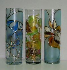 Витражна ваза   Ръчна изработка