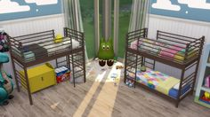 Lana CC Finds - Dorm Bunk Bed for Toddlers