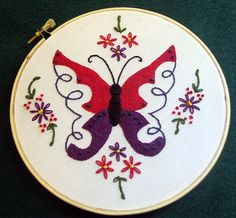 Lovely butterfly embroidery