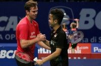 Anthony Gagal Balas Dendam ke Jorgensen di Indonesia Open