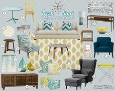 Rustic & Fun: E-Design Living Room Project. (adesignstory.com) | A ...