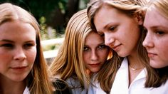 Leslie Hayman, Kirsten Dunst, A. J. Cook and Chelse Swain in The Virgin Suicides – 1999