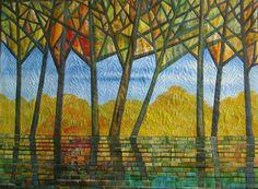 Gloria Loughman contemporary quilter, teacher and author  Autumn Reflections