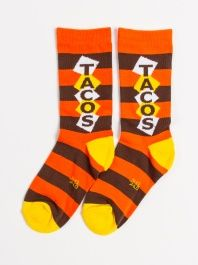 Tacos Crew Socks by Gumball Poodle - ShopKitson.com