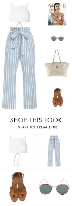 """""""Viv //"""" by prayingtosaintlaurent ❤ liked on Polyvore featuring Ack, Frame, Eyevan 7285 and Chanel"""